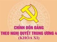 Chỉnh đốn và xây dựng Đảng theo nghị quyết trung ương 4 khóa XI