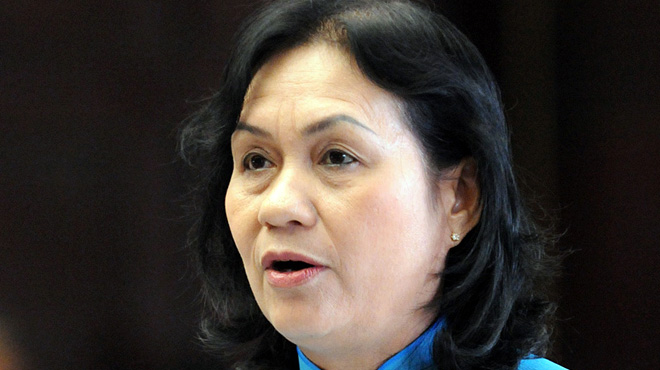 Kỳ họp thứ 4 Quốc hội khóa XIII về phòng chống tham nhũng - Đại biểu Nguyễn thị Kim Hà