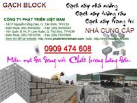 Phát Triển Việt Nam - Nhà cung cấp hàng đầu các sản phẩm gạch block, gạch xi măng, gạch bê tông, gạch xây không nung các loại