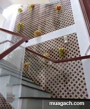 Gạch lỗ trồng cỏ xây tường thông gió desige thiết kế trang trí