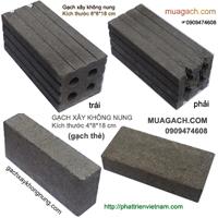 Gạch xây không nung, gạch không nung, gạch xi măng, gạch bê tông, gạch block, gạch ống, gạch đinh, gạch 4 lỗ không nung
