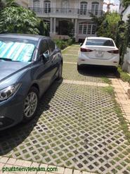 Gạch trồng cỏ sân xe ô tô, gạch lỗ trang trí, gạch lỗ lót sân đậu xe hơi
